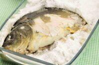 Как быстро и вкусно запечь карпа с солью в духовом шкафу