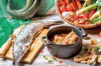 Приготовление щуки и овощей в духовом шкафу
