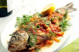 Рецепты запекания карпа вместе с овощами