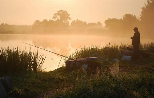 рыбалка утром