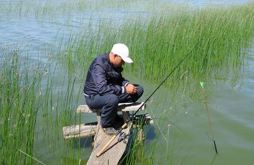 рыбалка на озере