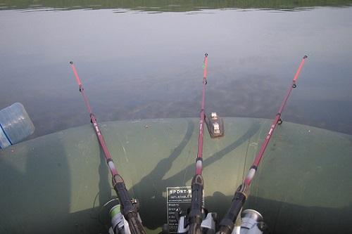 удочки для рыбалки с лодки