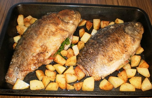 карась и картошка