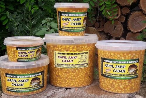 Ферментированная кукуруза на карпа