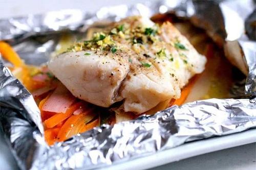 Рыбное филе в фольге