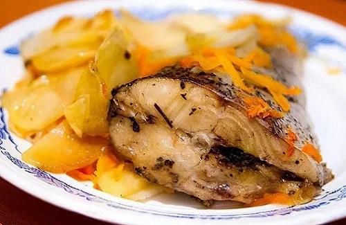 картофель и щука