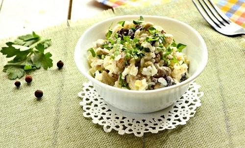 рис и грибы