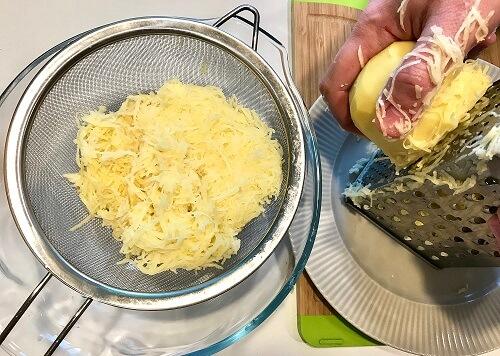 картофель и терка